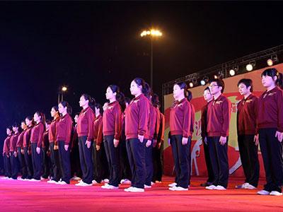 2012年白金会网站文化代表队参加县工会组织的广播体操比赛